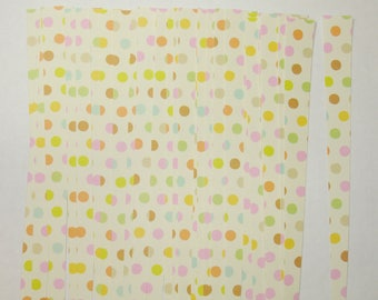 Pre Cut Paper Bead Strips Craft Supplies Polka Dots on Creme
