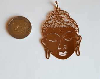 18K Gold Plated Buddha Head Pendant