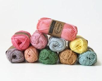 25 g Scheepjes Catona mercerized cotton yarn, crochet yarn, amigurumi yarn, crochet thread, yarn for small crochet projects, 25 g - 62,5 m