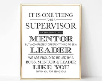 Digital Supervisor Quote Gift | Best Boss Quote Gift | Boss Appreciation Day | Boss's Day | Boss Gift | Boss Printable