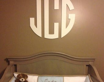 Wood Monogram Letters - Wall Hanging - Nursery Decor Letters - Teen Room Decor - Wooden letters
