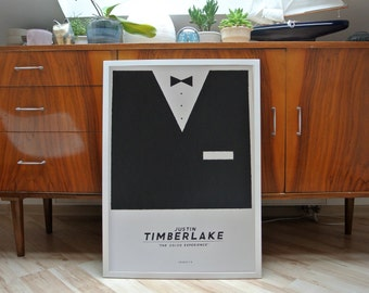 Justin Timberlake | A2 screenprint poster | limited edition of 35