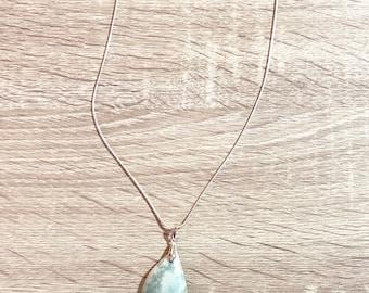 Amazonite Necklace, Gemstone Pendant Necklace, Natural Stone Necklace, Raw Crystal Necklace, Stone Necklace, Gemstone Necklace