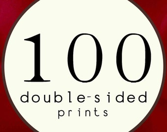 100 PRINTS - DOUBLE SIDED Printed Invitations Cards - 120485552