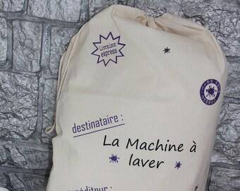 laundry basket, personalized laundry bag