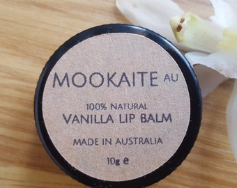 100% Natural Vanilla Lip Balm// Made in Melbourne// MookaiteAU
