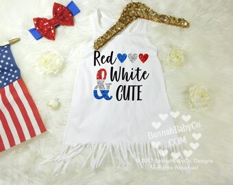 Baby Girl Clothes, Baby Girls Dress, Red White Cute, Fourth of July Dress, Girls 4th of July Dress, Independence Day Outfit, Red White Blue