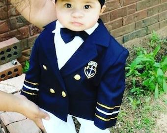 Navy Captain Suit/ Captain Suit/ Traje Marinero