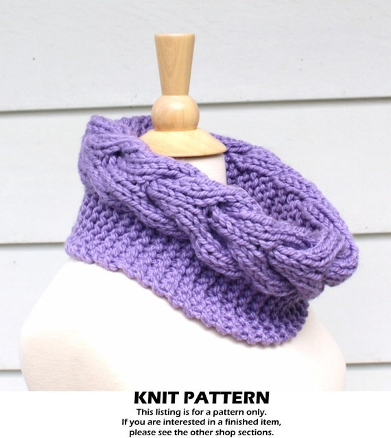 Knit Cable Cowl Pattern Knit Circle Scarf Pattern Horseshoe