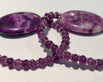 Women's Candy Purple Crazy Lace Agate with Purple Jade