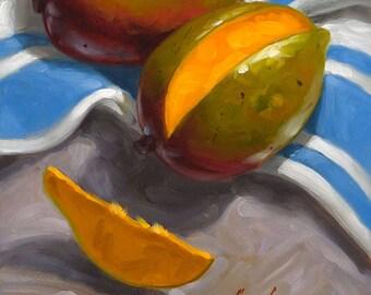 Just One Slice? - Fine Art Giclee Print - Original Oil Painting - Still Life - Kitchen Decor