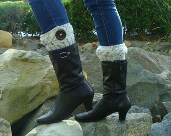 DIY- Knitting PATTERN #133 Cable Band Knit Boot Cuffs, Knit Boot Cuff Pattern, Teen/Womans Incl 3 Sizes, Instant Download PDF Pattern