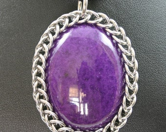 Purple Mountain Jade Wrapped in Chainmail