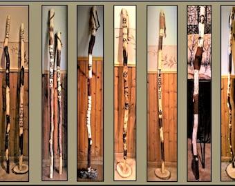 hikers gift ideas - hiking stick -  walking stick - wood anniversary gift - Husband gift - wife gift - Retirement gift -