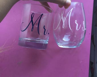 Mr. and Mrs. Drinking Glasses