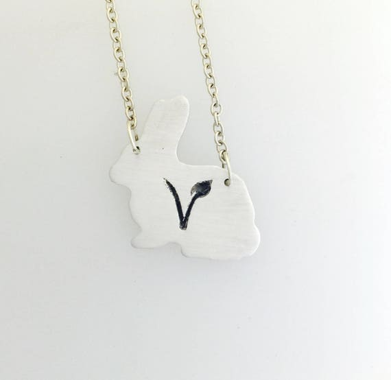 Vegan Vegetarian Symbol Necklace Pendant Vegan Gift Statement Choker