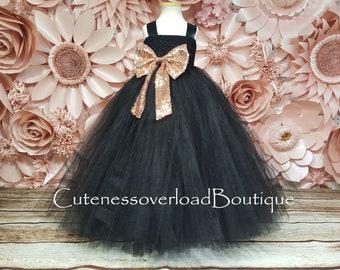 Black Tutu Dress-Black Flower Girl Tutu Dress-Black Girl Tutu-Black Wedding Tutu-Black Girl Tutu-Black Halloween Tutu-Black Wedding Tutu