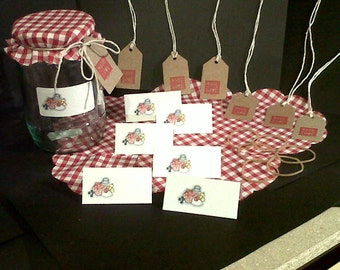 Jam Jar Covers with Tags & Labels