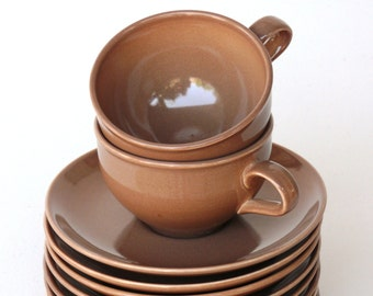 Redesigned Cup, Nutmeg Brown - Russel Wright - Iroquois Casual China, Vintage