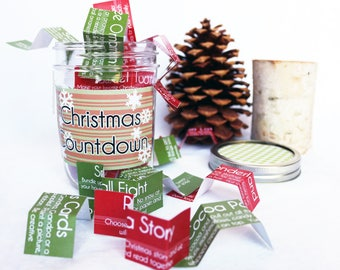 Christmas Countdown Activity Jar Advent Calendar