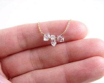 April Birthday ~ Herkimer Diamond Bracelet ~ April Birthstone ~ Gift for Her ~ Dainty Layering Bracelet ~ Simple Modern Everyday Jewelry