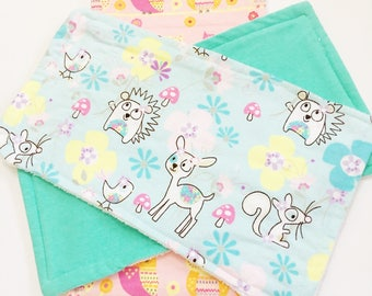 Infant Girls Burp Cloths, Owl's Burp Cloths, Animal Print Burp Cloths, Newborn's Burp Cloths,Absorbent Burp Cloths, Baby Shower Gifts