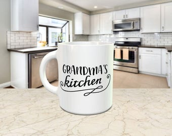 Grandma's Kitchen Novelty mug. For all the grandma's out there. All mugs come in a smash proof box.