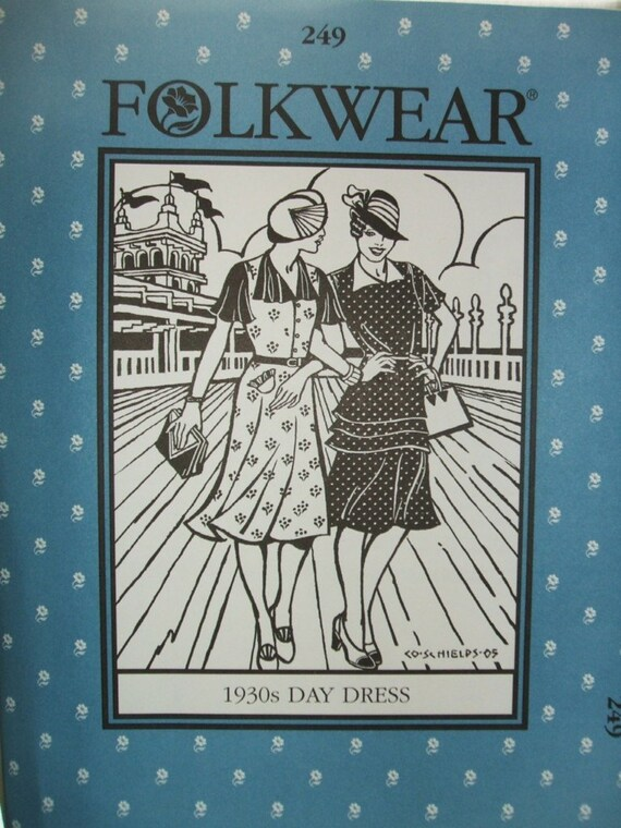Trachtenparty 249 1930 Tag Kleid Kostüm Schnittmuster