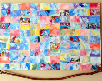 Spring Tiles Acrylic Abstract 20 by 30 inches