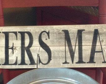 Farmers Market sign, wood sign, kitchen decor, farmhouse decor, rustic kitchen signs