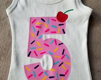 Birthday, Birthday cupcake, Birthday icecream, Icecream, Sprinkle Shirt, Cherry