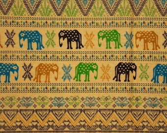 Asian elephants - yellow ochre
