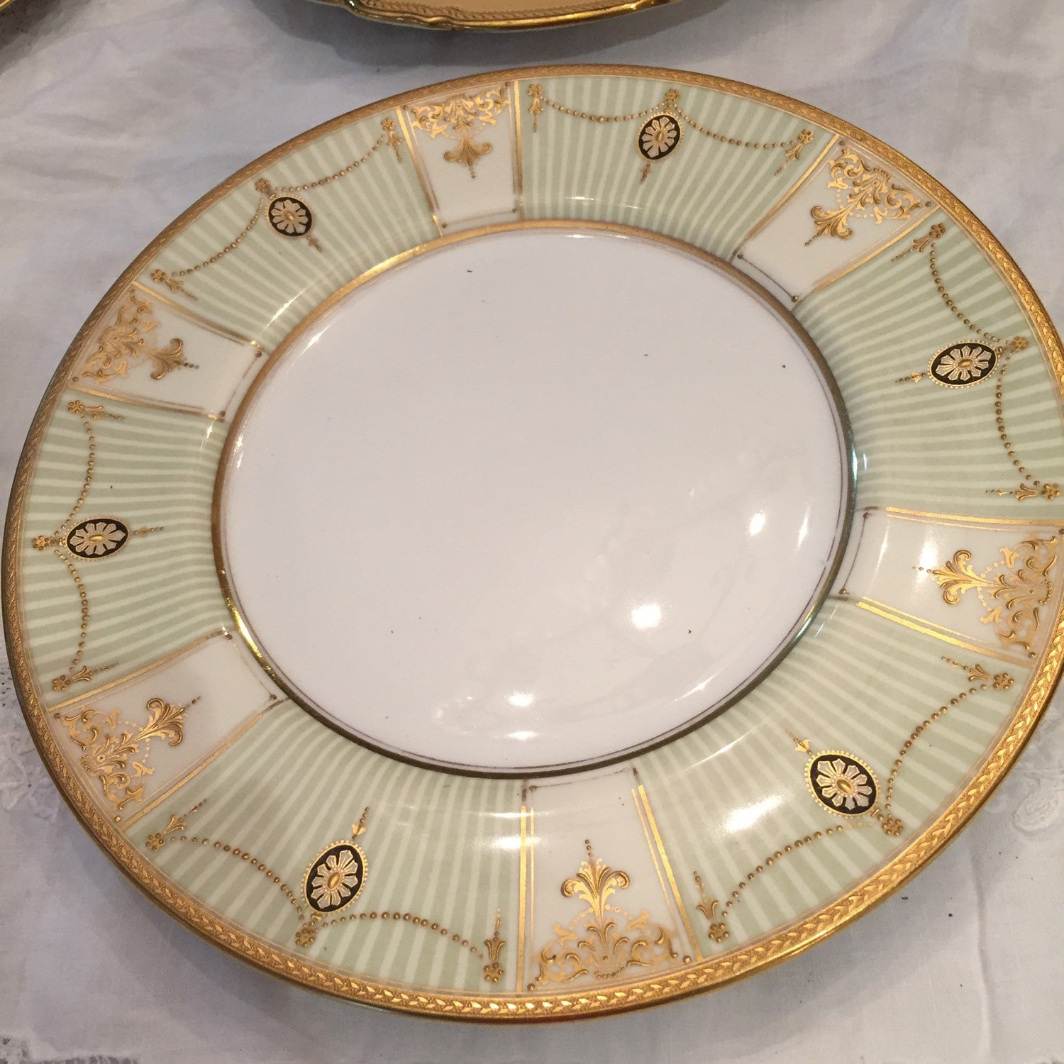 ?zoom & Dinner Plates Antique NeoClassic China Set 6 Royal Doulton