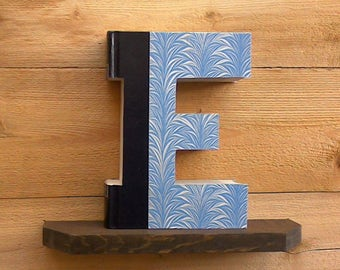 Letter Book (E) #630, BOOK LETTER, Book Art, Unique Gifts, House Warming Gift, Alphabet Book, Book Cut Out, Wall Decor, Book Club Gifts