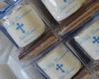 Christening and Baptism favors Confirmation Communion s'mores kit favor cute marshmallow unique guest party favor teacher Religious gifts