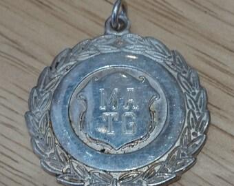 Solid sterling silver hallmarked medallion
