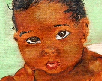 Baby Boy Brown -- Original Painting