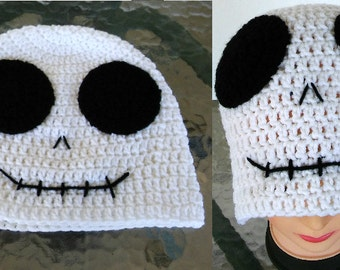 Skeleton Hat - Skeleton Beanie - Crochet Skeleton Hat - Adult Skeleton Hat - Child Skeleton Hat -Halloween Hat - Skull Hat