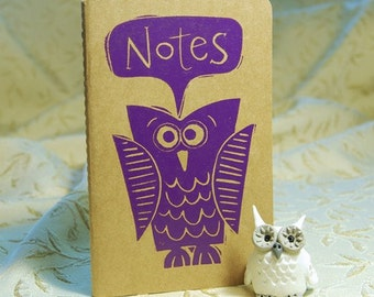Purple Owl Moleskine Notebook