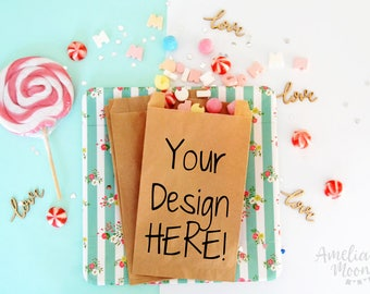 Custom business packaging - Shop counter bags - Custom brown paper bags - Shop logo paper bags - Custom logo branding - Business packaging
