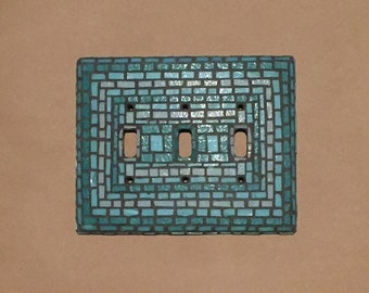 Mosaic Triple Light Switch Cover