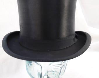 Silk Plush Top Hat 60 UK 7 3/8