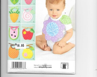 Simplicity 2273 - Baby Bibs with Fruit Theme