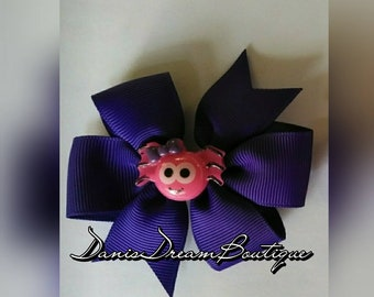 Custom made hair bow clip