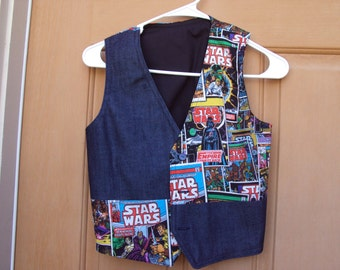 Star Wars Vest--The Empire strikes Back--  Child size 8-10