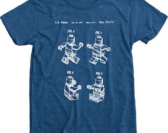 Lego Original Patent Drawing Kids Tri-blend T-Shirt