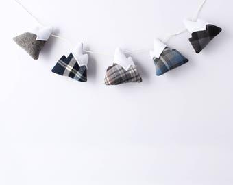 Mountain Garland // decorative garland, winter decor, fall decor, christmas garland, nursery garland, mountain lover, mantle decorations