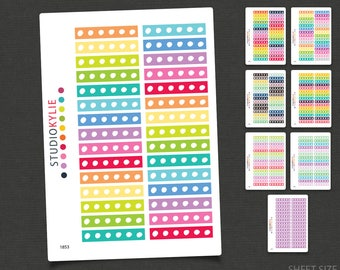 Whimsical Border Sticker -  To suit Erin Condren Life Planners & others - Repositionable Matte Vinyl