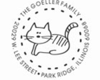 Cat Address stamp - SC19