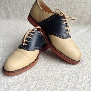 Cole Haan 90s two tone genuine leather golf inspired shoes